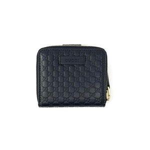 Gucci Leather Guccissima Black Compact Wallet